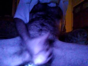 hairy lighted masturbation