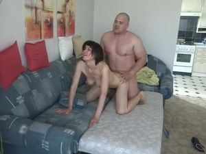 Mature Polish couple fucking on bed at..