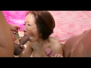 Asian Dirty Talking GILF Takes It Up The..