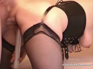 Chubby Slutwife In Stockings Fucked In..