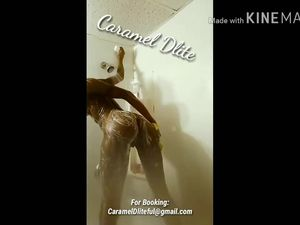 Caramel Dlite Shower Action and Pussy Play