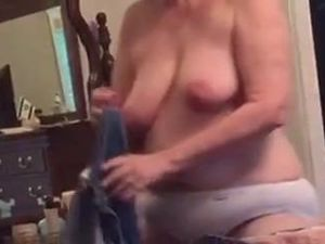BBW Wife Clair - Big Tits Gets In Bed