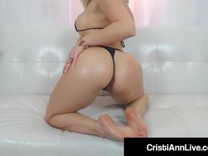 Asian Teen Cristi Ann Oils Her Big Ass..