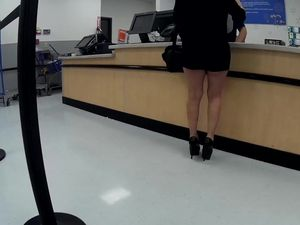 Latina granny high heels short..