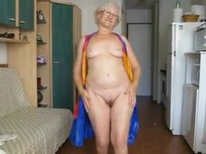 65 Yr. Old Granny Hamming It Up On Cam